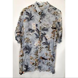 Zara floral relax fit shirt